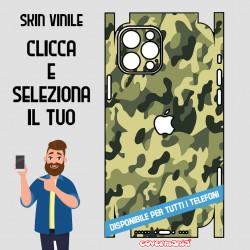 SKIN VINILE ADESIVO MIMETICA CAMOUFLAGE VERDE WRAPPING PER TUTTI I TELEFONI