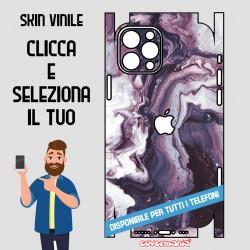 SKIN VINILE ADESIVO MARMO VIOLA WRAPPING PER TUTTI I TELEFONI
