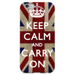 COVER KEEP CALM AND CARRY ON per iPhone 3g/3gs 4/4s 5/5s/c 6/6s Plus iPod Touch 4/5/6 iPod nano 7