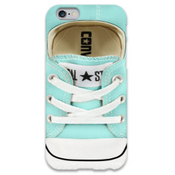 COVER ALL STARS CONVERSE CELESTE per iPhone 3g/3gs 4/4s 5/5s/c 6/6s Plus iPod Touch 4/5/6 iPod nano 7