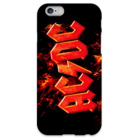 COVER AC/DC FIRE per iPhone 3g/3gs 4/4s 5/5s/c 6/6s Plus iPod Touch 4/5/6 iPod nano 7