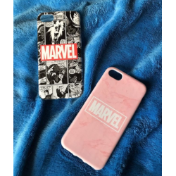 COVER DI COPPIA MARVEL per APPLE SAMSUNG HUAWEI LG SONY ASUS WIKO XIAOMI