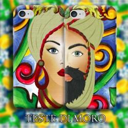 COVER DI COPPIA TESTE DI MORO per APPLE SAMSUNG HUAWEI LG SONY ASUS WIKO XIAOMI