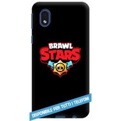 COVER BRAWL STARS LOGO NERO PER APPLE IPHONE SAMSUNG GALAXY HUAWEI ASUS LG ALCATEL SONY WIKO XIAOMI