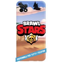 COVER BRAWL STARS LOGO SABBIA PER APPLE IPHONE SAMSUNG GALAXY HUAWEI ASUS LG ALCATEL SONY WIKO XIAOMI