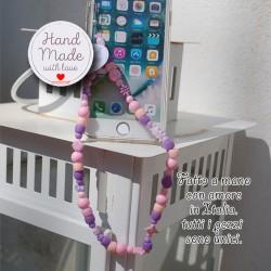 Phone Beads 5 ciondolo charm per telefono smartphone Fatto a Mano
