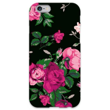COVER FIORI NERO per iPhone 3g/3gs 4/4s 5/5s/c 6/6s Plus iPod Touch 4/5/6 iPod nano 7