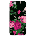 COVER FIORI NERO per iPhone 3g/3gs 4/4s 5/5s/c 6/6s Plus iPod Touch 4/5/6 iPod nano 7