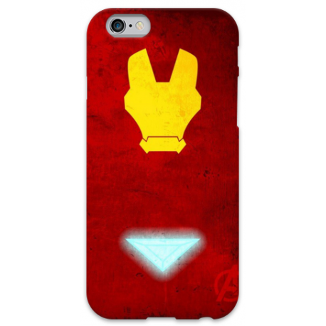 COVER IRON MAN Minimalist per iPhone 3g/3gs 4/4s 5/5s/c 6/6s Plus iPod Touch 4/5/6 iPod nano 7
