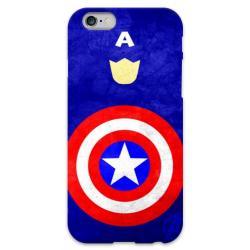 COVER CAPITAN AMERICA Minimalist per iPhone 3g/3gs 4/4s 5/5s/c 6/6s Plus iPod Touch 4/5/6 iPod nano 7