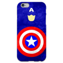 COVER CAPITAN AMERICA Minimalist per iPhone 3g/3gs 4/4s 5/5s/c 6/6s Plus iPod Touch 4/5/6 iPod nano 7