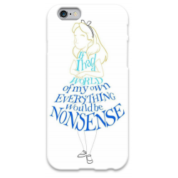 COVER ALICE NON SENSE per iPhone 3g/3gs 4/4s 5/5s/c 6/6s Plus iPod Touch 4/5/6 iPod nano 7