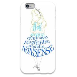 COVER ALICE NON SENSE per iPhone 3g/3gs 4/4s 5/5s/c 6/6s Plus iPod Touch 4/5/6 iPod nano 7