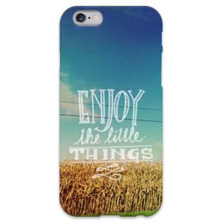 COVER ENJOY THE LITTLE THINGS per iPhone 3g/3gs 4/4s 5/5s/c 6/6s Plus iPod Touch 4/5/6 iPod nano 7
