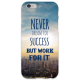 COVER FRASI NEVER DREAMS per iPhone 3g/3gs 4/4s 5/5s/c 6/6s Plus iPod Touch 4/5/6 iPod nano 7