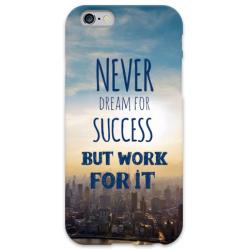 COVER FRASI NEVER DREAMS per iPhone 3g/3gs 4/4s 5/5s/c 6/6s Plus iPod Touch 4/5/6 iPod nano 7