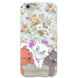 COVER ARISTOGATTI MINù FIORI per iPhone 3g/3gs 4/4s 5/5s/c 6/6s Plus iPod Touch 4/5/6 iPod nano 7