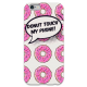 COVER CIAMBELLE DONT TOUCH MY PHONE per iPhone 3g/3gs 4/4s 5/5s/c 6/6s Plus iPod Touch 4/5/6 iPod nano 7