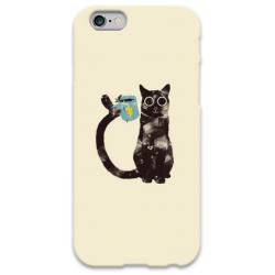 COVER GATTO COFFEE per iPhone 3g/3gs 4/4s 5/5s/c 6/6s Plus iPod Touch 4/5/6 iPod nano 7