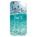 COVER FRASI LIFE IS SHORT LIVE IT per iPhone 3g/3gs 4/4s 5/5s/c 6/6s Plus iPod Touch 4/5/6 iPod nano 7