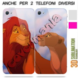 COVER DI COPPIA RE LEONE per APPLE SAMSUNG HUAWEI LG SONY