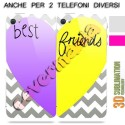 COVER DI COPPIA BEST FRIENDS CUORE per APPLE SAMSUNG HUAWEI LG SONY