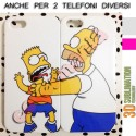 COVER DI COPPIA HOMER E BART SIMPSON per APPLE SAMSUNG HUAWEI LG SONY