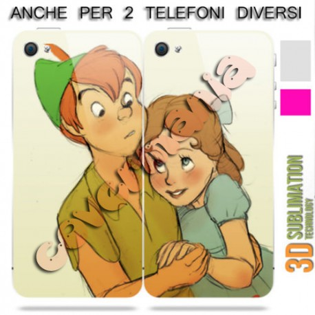COVER DI COPPIA PETER PAN E WENDY 2 per APPLE SAMSUNG HUAWEI LG SONY