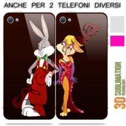 COVER DI COPPIA ROGER E JESSICA RABBIT per APPLE SAMSUNG HUAWEI LG SONY