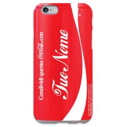 COVER COCA COLA con il tuo nome per iPhone 3g/3gs 4/4s 5/5s/c 6/6s Plus iPod Touch 4/5/6 iPod nano 7