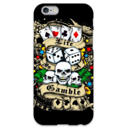 COVER POKER TESCHIO GAMBLE per iPhone 3g/3gs 4/4s 5/5s/c 6/6s Plus iPod Touch 4/5/6 iPod nano 7