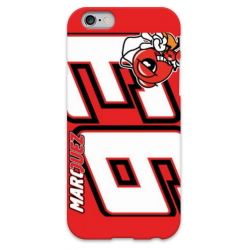 COVER MARC MARQUEZ 93 ROSSO per iPhone 3g/3gs 4/4s 5/5s/c 6/6s Plus iPod Touch 4/5/6 iPod nano 7