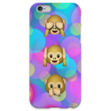 COVER NON VEDO NON SENTO NON PARLO per iPhone 3g/3gs 4/4s 5/5s/c 6/6s Plus iPod Touch 4/5/6 iPod nano 7