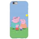 COVER PEPPA PIG FAMILY per iPhone 3g/3gs 4/4s 5/5s/c 6/6s Plus iPod Touch 4/5/6 iPod nano 7