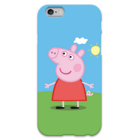 COVER PEPPA PIG per iPhone 3g/3gs 4/4s 5/5s/c 6/6s Plus iPod Touch 4/5/6 iPod nano 7