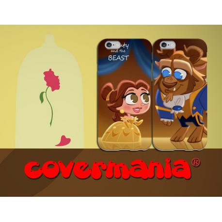 COVER DI COPPIA LA BELLA E LA BESTIA BABY per APPLE SAMSUNG HUAWEI LG SONY