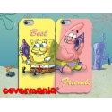 COVER DI COPPIA SPONGEBOB E PATRICK BEST FRIENDS per APPLE SAMSUNG HUAWEI LG SONY