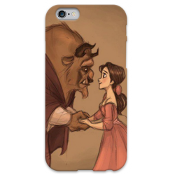 COVER LA BELLA E LA BESTIA per iPhone 3g/3gs 4/4s 5/5s/c 6/6s Plus iPod Touch 4/5/6 iPod nano 7