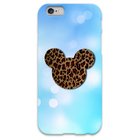 COVER MINNIE LEOPARDATA per iPhone 3g/3gs 4/4s 5/5s/c 6/6s Plus iPod Touch 4/5/6 iPod nano 7
