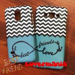 COVER DI COPPIA Best Friends per APPLE SAMSUNG HUAWEI LG SONY