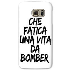 COVER CHE FATICA UNA VITA DA BOMBER BIANCO per SAMSUNG GALAXY SERIE S, S MINI, A, J, NOTE, ACE, GRAND NEO, PRIME, CORE, MEGA