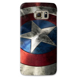 COVER CAPITAN AMERICA SCUDO per SAMSUNG GALAXY SERIE S, S MINI, A, J, NOTE, ACE, GRAND NEO, PRIME, CORE, MEGA