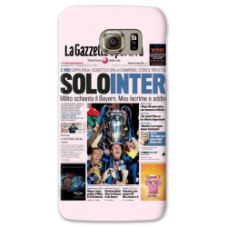 COVER SOLO INTER GAZZETTA per SAMSUNG GALAXY SERIE S, S MINI, A, J, NOTE, ACE, GRAND NEO, PRIME, CORE, MEGA