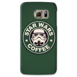 COVER STAR WARS COFFEE per SAMSUNG GALAXY SERIE S, S MINI, A, J, NOTE, ACE, GRAND NEO, PRIME, CORE, MEGA