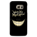 "COVER STREGATTO ""WE'RE ALL MAD HERE"" per SAMSUNG GALAXY SERIE S, S MINI, A, J, NOTE, ACE, GRAND NEO, PRIME, CORE, MEGA"